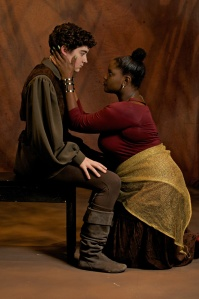Anna Steuerman as Macbeth and Lashay McMillan as Lady Macbeth. Credit: Dave Frey